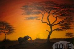 Afrikanischer Sonnenuntergang