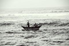 Fischerboot am Mirissa Beach